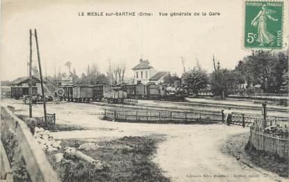 """/ CPA FRANCE 61 """"Le Mesle sur Sarthe, vue générale de la gare"""""""