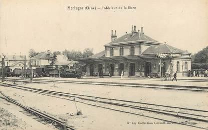 """/ CPA FRANCE 61 """" Mortagne, intérieur de la gare"""""""
