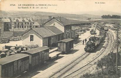 "CPA FRANCE 43 ""Le Chambon de Tence, la gare"" / TRAIN"