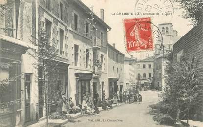 "CPA FRANCE 43 ""La Chaise Dieu, avenue de la gare"""