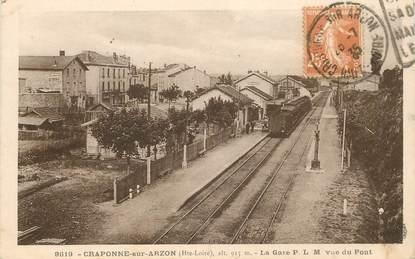 "CPA FRANCE 43 ""Craponne sur Arzon, la gare""/ TRAIN"