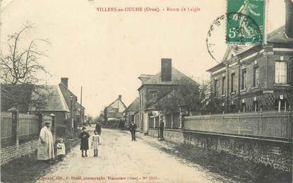 """/ CPA FRANCE 61 """"Villers en OUche, route de Laigle"""""""