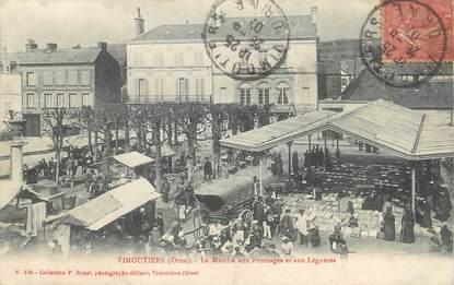 """/ CPA FRANCE 61 """"Vimoutiers, le marché aux fromages et aux légumes"""""""