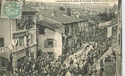 """CPA FRANCE 43 """"Le Puy, Inauguration de la statue de Saint Joseph d'Espaly, 1910"""""""