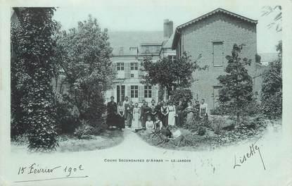 """/ CPA FRANCE 62 """"Cours secondaires d'Arras, le jardin"""""""