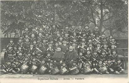 """/ CPA FRANCE 62 """"Arras, orphelinat Halluin"""" / FANFARE"""