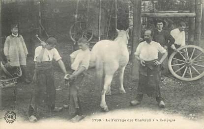 """CPA FRANCE 43 """"le ferrage des chevaux à la campagne"""""""