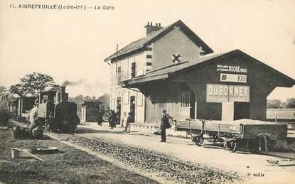 """CPA  FRANCE 44 """"Aigrefeuille, la gare"""" / TRAIN"""