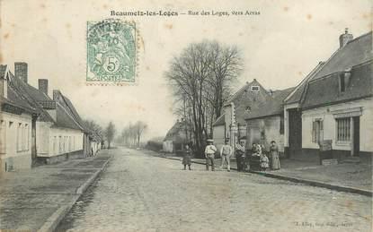 """/ CPA FRANCE 62 """"Beaumetz Les Loges, rue des loges vers Arras"""""""
