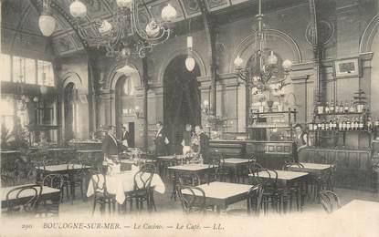 """/ CPA FRANCE 62 """"Boulogne sur Mer, le casino, le café"""""""