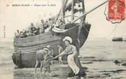 """62 Pa De Calai / CPA FRANCE 62 """"Berck Plage, départ pour la pêche"""" / BATEAU"""