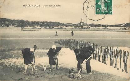 """/ CPA FRANCE 62 """"Berck Plage, parc aux moules """""""