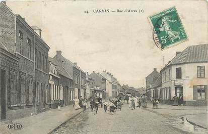 "/ CPA FRANCE 62 ""Carvin, rue d'Arras"""