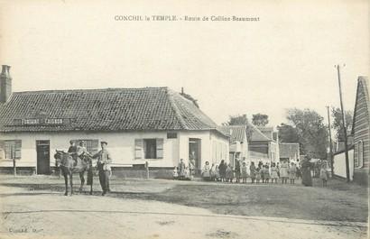 """/ CPA FRANCE 62 """"Conchil Le Temple, route de Colline Beaumont"""""""