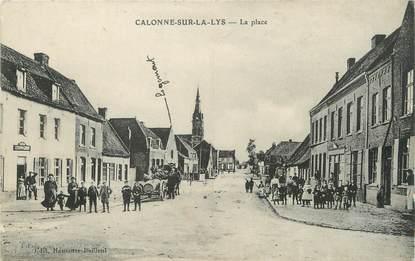 """/ CPA FRANCE 62 """"Calonne sur La Lys, la place"""""""