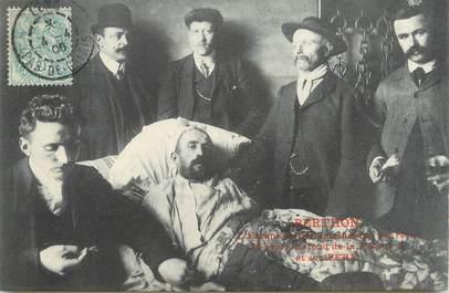 """/ CPA FRANCE 62 """"Berthon, l'Escapé de Sallaumines qui est resté 25 jours au fond de la fosse nr4 et son père """""""