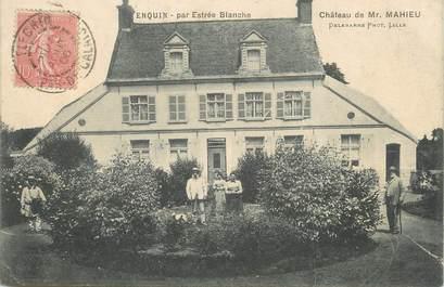 """/ CPA FRANCE 62 """"Enquin, château de Mr Mahieu"""""""