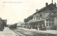 """62 Pa De Calai / CPA FRANCE 62 """"Hesdin, la gare, arrivée d'un train"""""""