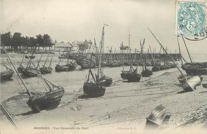 """/ CPA FRANCE 62 """"Hourdel, vue générale du port"""" / BATEAU"""