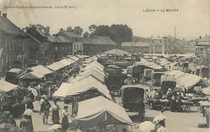 """/ CPA FRANCE 62 """"Liévin, le marché"""""""
