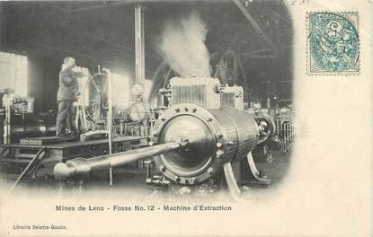 "/ CPA FRANCE 62 ""Lens, machine d'extraction"" / MINES"