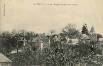 """CPA FRANCE 19 """"Saint Augustin, vue générale prise de la mairie"""""""