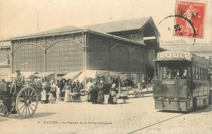 """CPA  FRANCE 44 """"Nantes, le marché de la petite Hollande"""""""