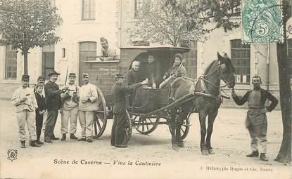 """CPA  FRANCE 44 """"Scène de caserne, vive la cantinière"""""""