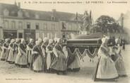 "62 Pa De Calai / CPA FRANCE 62 ""Le Portel, la procession"" / FOLKLORE"