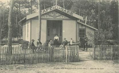 """CPA  FRANCE 44 """"Plage des Rochelets, café de la gare"""""""