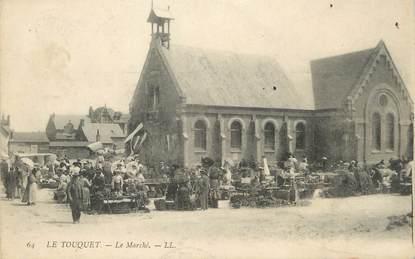 """/ CPA FRANCE 62 """"Le Touquet, le marché"""""""
