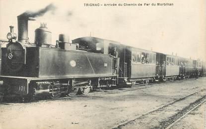 "CPA  FRANCE 44 ""Trignac, arrivée du chemin de fer du Morbihan"" / TRAIN"