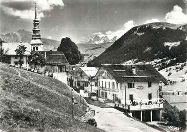 """/ CPSM FRANCE 73 """"Hauteluce, entrée du village et le Mont Blanc"""""""