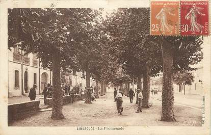 "/ CPA FRANCE 30 ""Aimargues, la promenade"""