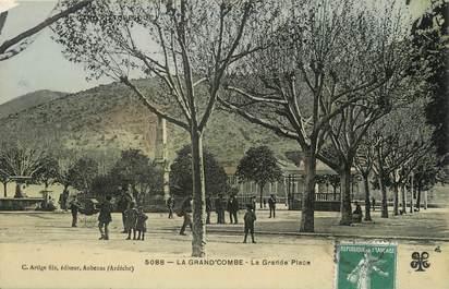 """/ CPA FRANCE 30 """"La Grand Combe, la grande place"""""""