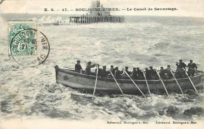 """CPA FRANCE 62 """"Boulogne sur mer, le canot de sauvetage en mer"""""""