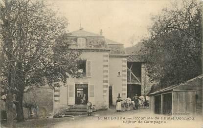 """/ CPA FRANCE 30 """"Mélouza, propriété de l'hôtel Gonnard"""""""
