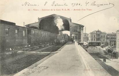 """/ CPA FRANCE 30 """"Nîmes, intérieur de la gare"""""""