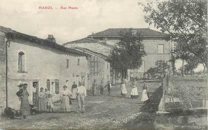 """CPA FRANCE 88 """"Harol, la rue Haute"""""""