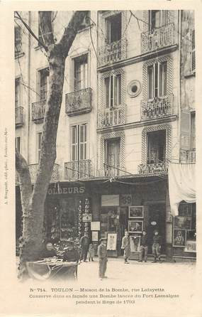 """CPA FRANCE 83 """"Toulon, Maison de la Bombe, rue Lafayette"""""""