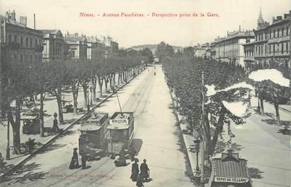 """/ CPA FRANCE 30 """"Nîme, avenue Feuchères"""" / TRAMWAY"""