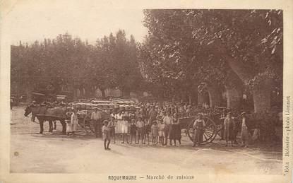 """/ CPA FRANCE 30 """"Roquemaure, marché de raisins"""""""