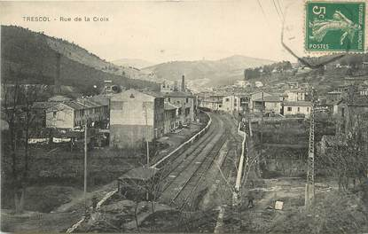 """/ CPA FRANCE 30 """"Trescol, rue de la Croix"""""""
