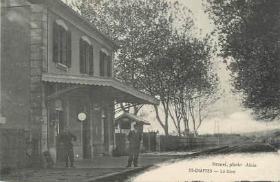 """/ CPA FRANCE 30 """"Saint Chaptes, la gare"""""""