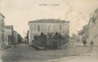 """/ CPA FRANCE 30 """"Vauvert, le square"""""""