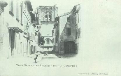 "/ CPA FRANCE 30 ""Villeneuve les Avignon, la Grand'rue"""