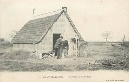 "/ CPA FRANCE 13 ""En Camargue, cabane de gardien"""