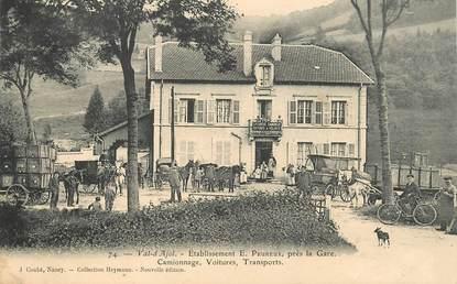 """CPA FRANCE 88 """"Le Val d'Ajol, Etablissement E. Peureux près de la gare"""""""