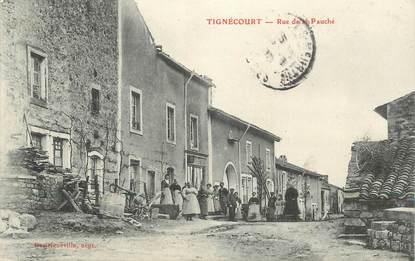 """CPA FRANCE 88 """"Tignécourt, rue de la Pauché"""""""
