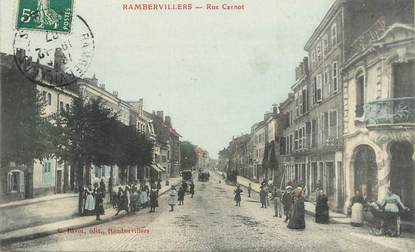 """CPA FRANCE 88 """"Rambervillers, rue Carnot"""""""